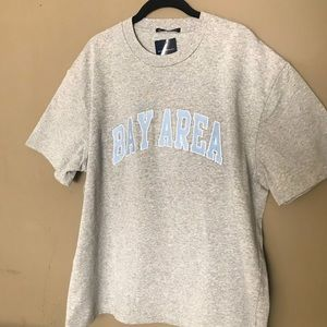 "Brandy Melville ""Bay Area"" embroidered shirt"